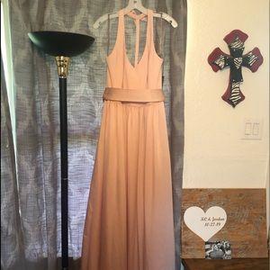 Plush pink Vera wang white bridesmaids/mob dress